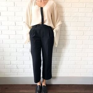 Silk blouse statement sleeves by Nicole Richie